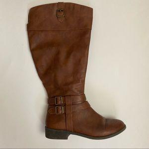 American Eagle Tall Brown Zipper Boot Size 8 W